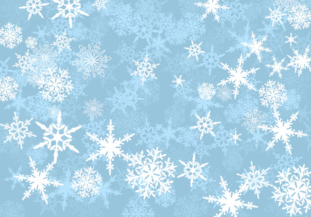 flocon de neige: R�sum� Powder Blue Snowflakes background