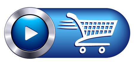 orden de compra: Hora de salida Icono Símbolo sitios web de compras Botón Vectores