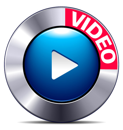 Movie play button app symbol for websites phones