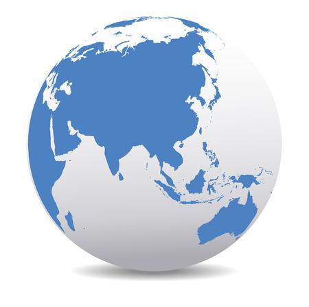 mapa: China y Asia, Mundo Global
