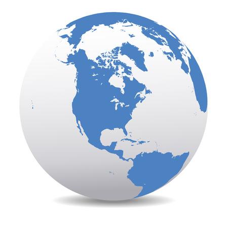Amérique du Nord, Global World Banque d'images - 33238198