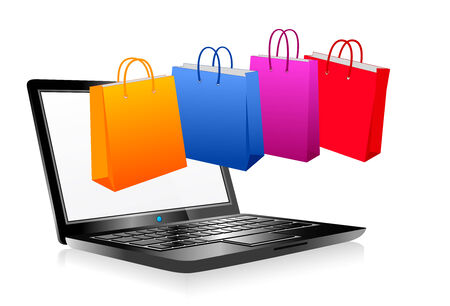 Online Shopping on the Internet Vector