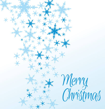 Snowflakes Merry Christmas Card Vector