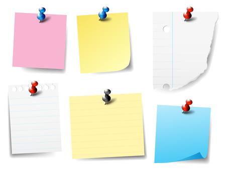 ピン留めの紙のノート - それを投稿、ラベル、