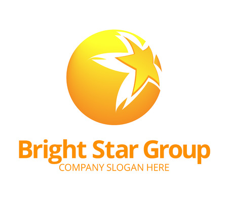 import and export business: Star Logo Template Illustration