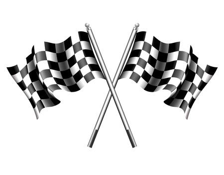 bandera carrera: Bandera a cuadros de la Raza