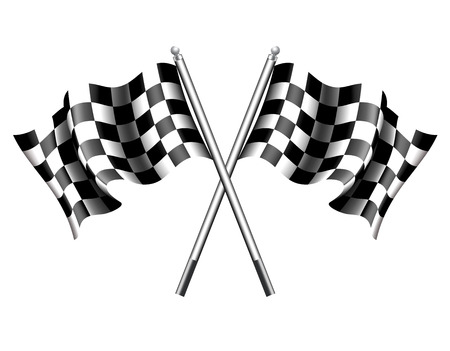 rally car: Chequered Race Flag Illustration