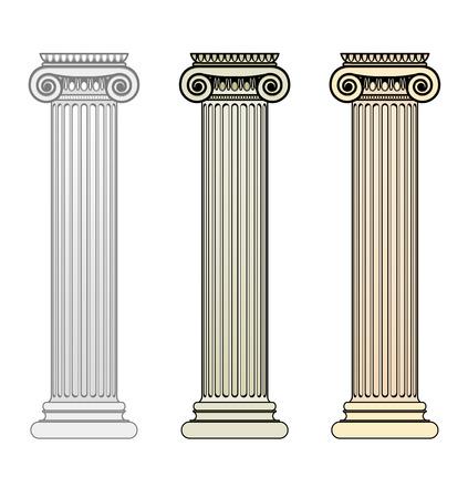 ancient greek: Ionic Columns