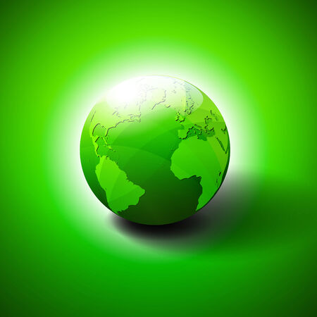 save earth: Eco Green World Background - Save the World Illustration