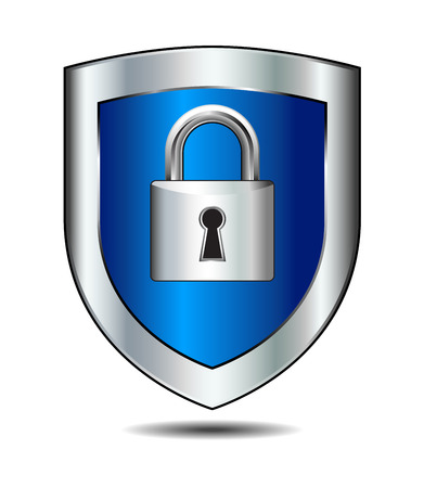 security symbol: Shield Lock Illustration