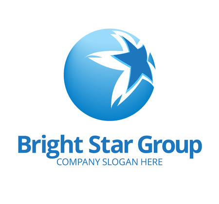 star logo: Dynamic Star Logo Template on Globe
