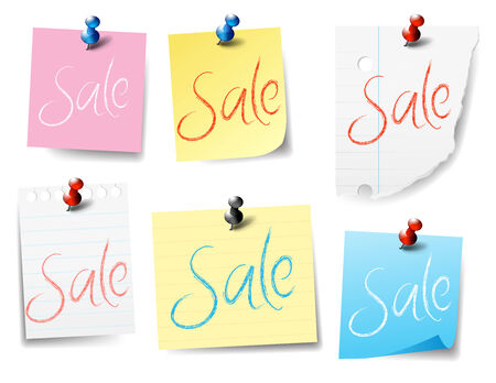 pinned: Sale Paper Pinned - sticky Notes
