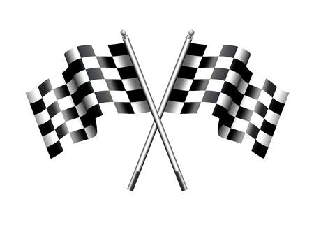 motor race: Geruite geruite Vlaggen Motor Racing