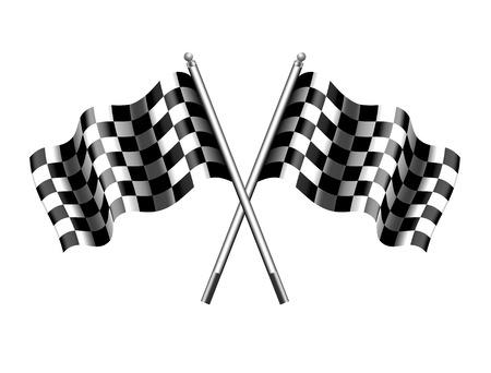 Golfde geruite geruite vlag Vector Illustratie