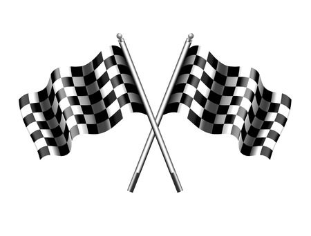 checker flag: Rippled Chequered Checkered flag