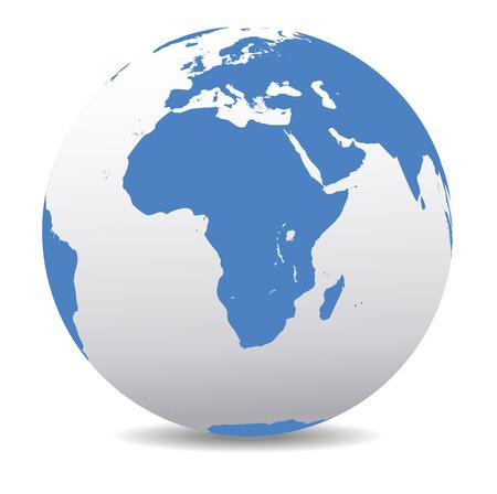 Africa Global World Illustration