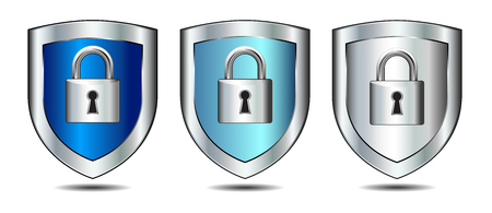 Lock on shield - concept internet protection