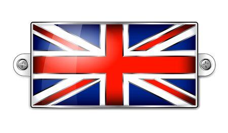 gb: British Union Jack Enamel Flag Illustration