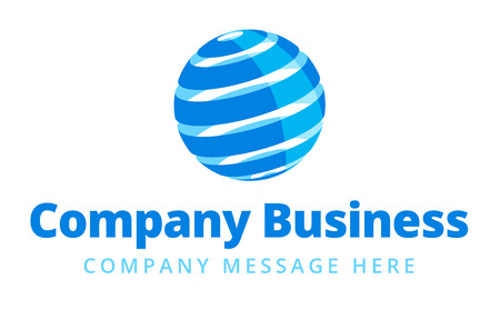 internet globe: Global Company Business icon Symbol Concept