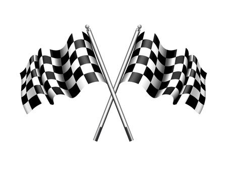 finishing line: Checkered Flag  Chequered Flag