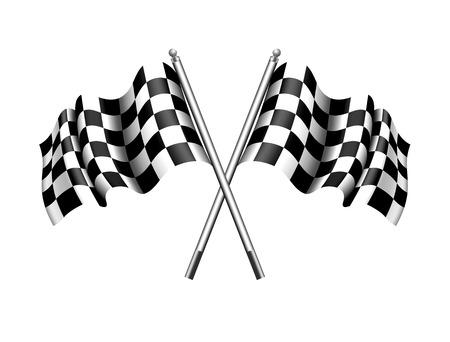 motor race: Geblokte vlag Chequered Flag