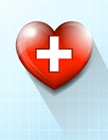 nhs: Heart and Heartbeat Pulse Medical Symbol