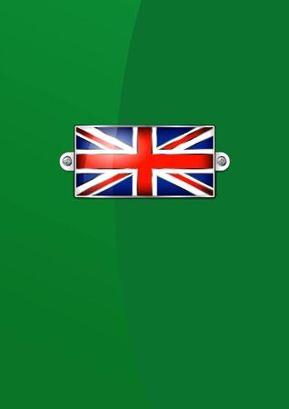 gb: Enamel British Union Jack Flag - Background Illustration