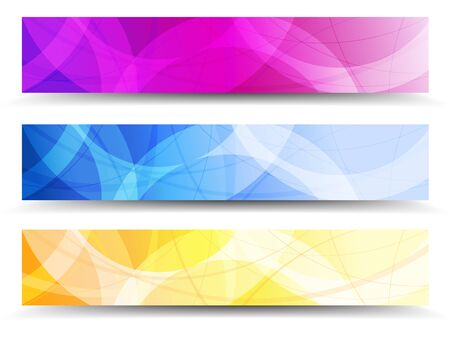 A modern set of vector Banner Header with abstract background Vector