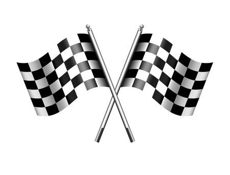 motor race: Geruite geruite Vlaggen finishvlag