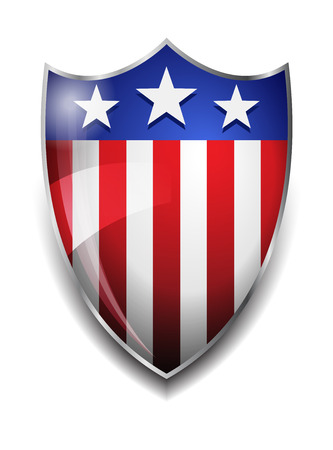 American Shield  Glossy American Flag on Shield