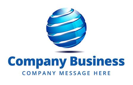 esfera: Business Logo Símbolo Nombre Concept