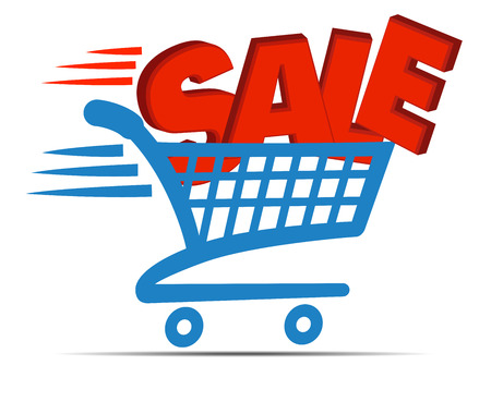 check symbol: Check Out Cart SALE Icon Symbol - SALE Banner