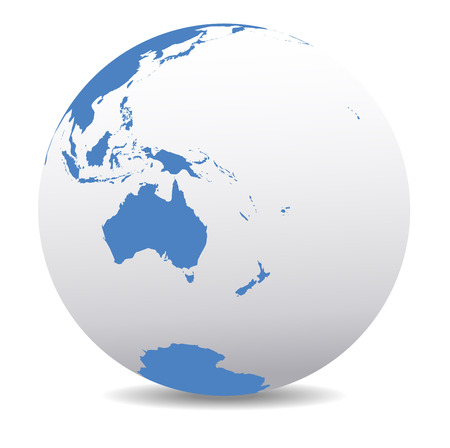 asia globe: Australia and New Zealand, Global World