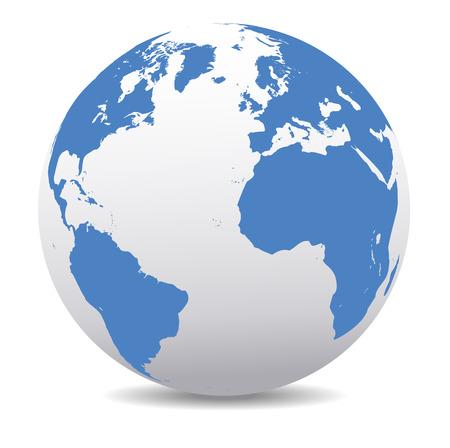 south america: Europa, Am�rica del Norte y del Sur, �frica Global Mundial Vectores