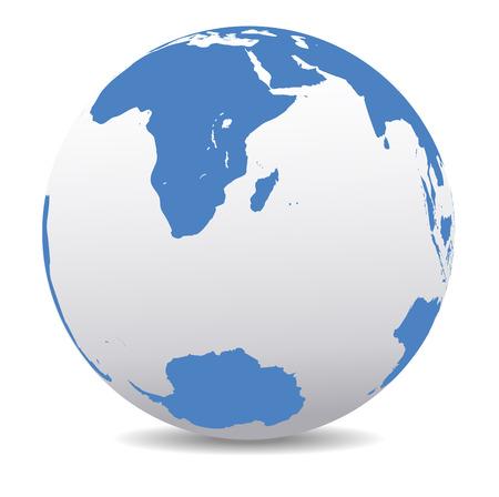 mauritius: South Africa, Madagascar, and the South Pole Illustration