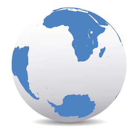 antartide: Sud Africa, Madagascar, Sud America e Antartide, Polo Sud
