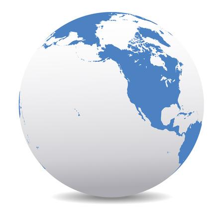 siberia: North America, Canada, Siberia and Hawaii Global World