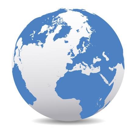 deutschland karte: Europa, Russland und Afrika, globalen Welt Illustration