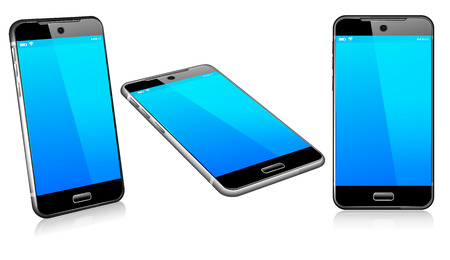 touch screen phone: Phone Cell Smart Mobile 3D and 2D