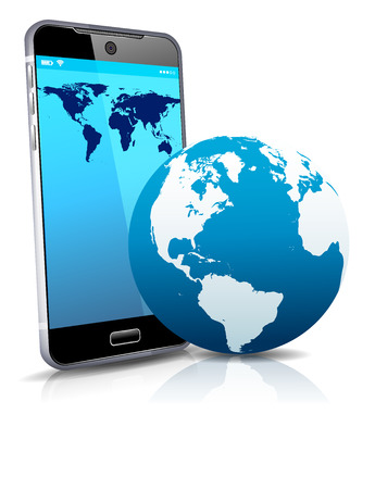 globe world: World on your Phone Cell Smart Mobile 3D