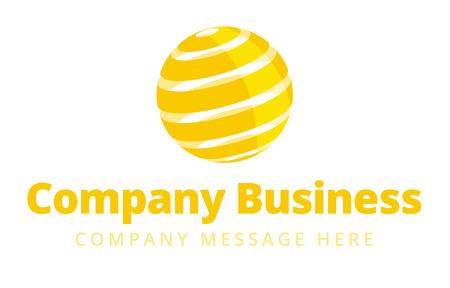 world globe: Business Logo Symbol Name Concept Illustration