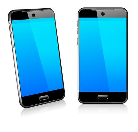 ilustração: Cell Phone Smart Mobile 3D e 2D Ilustração