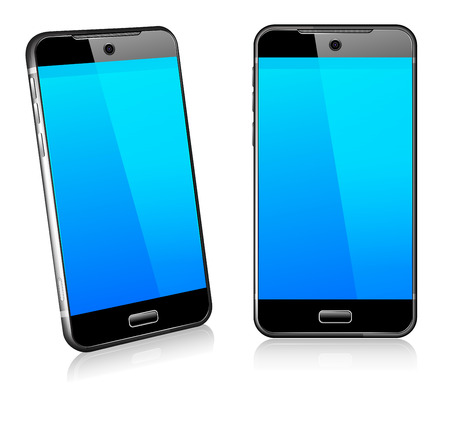 smartphone icon: Phone Cell Smart Mobile 3D and 2D