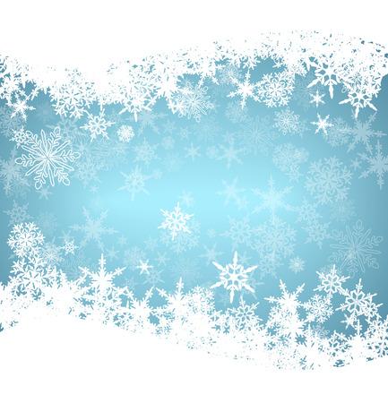 sapin neige: Flocons de neige de Noël carte Illustration