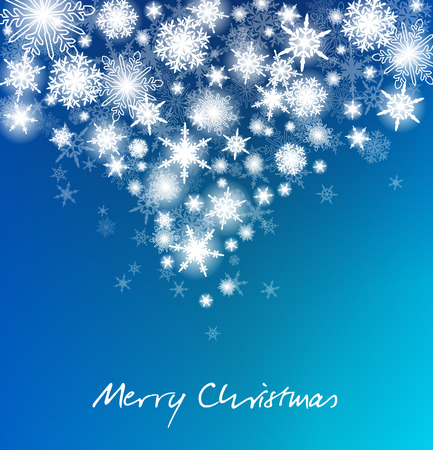 christmas snowflakes: Merry Christmas - Christmas Snowflakes Card