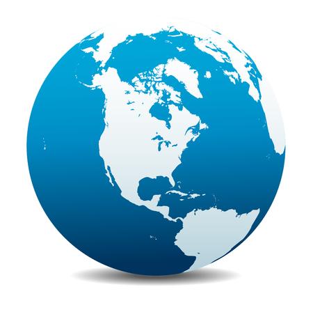 wereldbol: Noord-, Zuid- en Centraal-Amerika, Global Wereld
