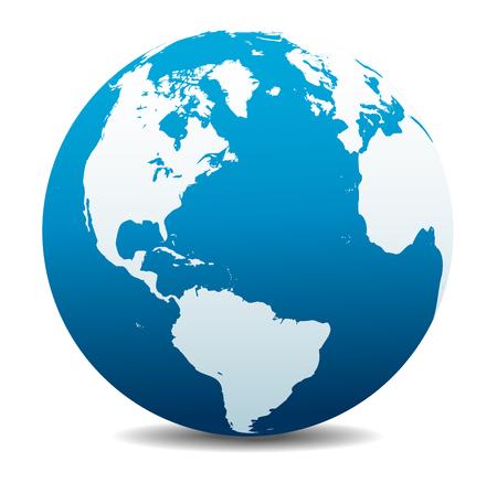 south  america: América del Norte y del Sur, Europa, África Global Mundial