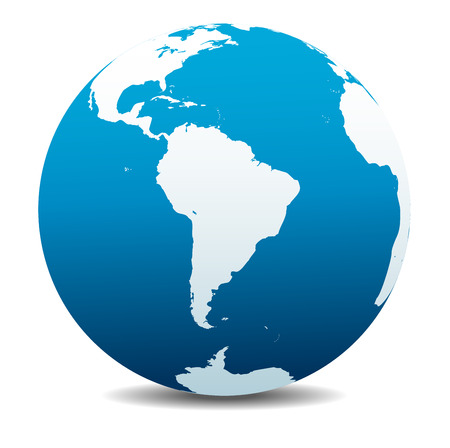 globo: Sud America Global World Vettoriali
