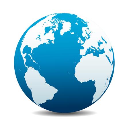 Europa, Norte, América do Sul, África Global World