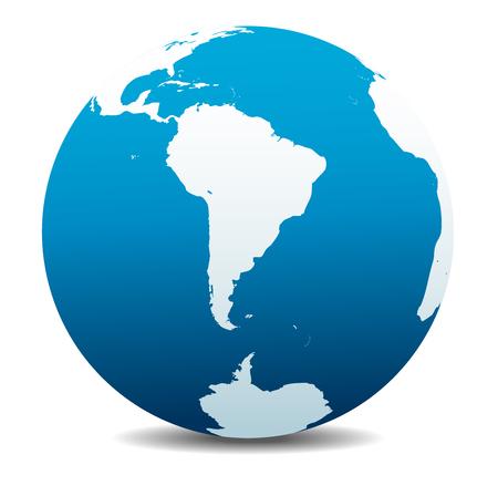 mapa del peru: América del Sur y el Polo Sur Global Mundial